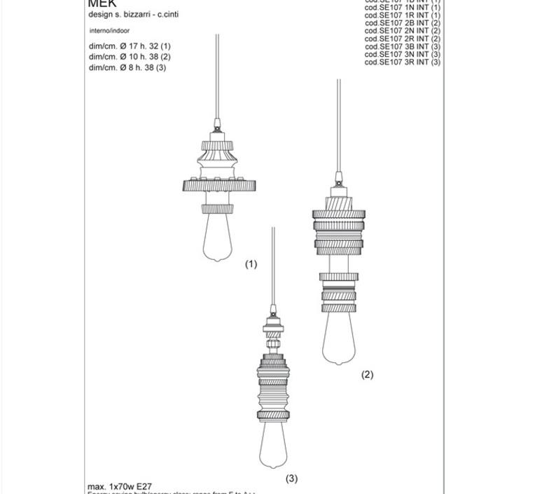 Mek bizzarri karman se107 1r int 700l luminaire lighting design signed 19725 product