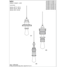 Mek bizzarri karman se107 3n int 700l luminaire lighting design signed 19750 thumb
