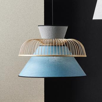 Suspension mekko gm bleu ciel gris l50cm o39cm market set normal