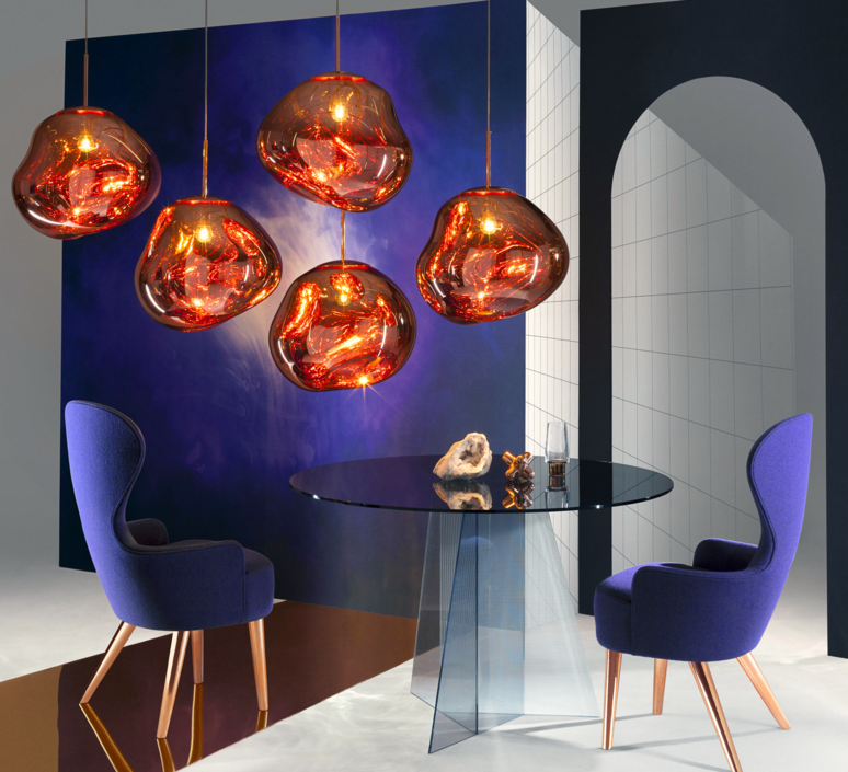 suspension melt cuivre h50cm 50cm tom dixon luminaires nedgis. Black Bedroom Furniture Sets. Home Design Ideas