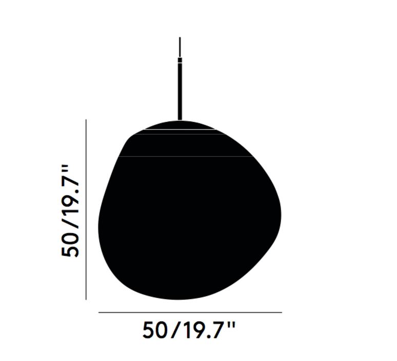 Melt tom dixon suspension pendant light  tom dixon mes01coeu   design signed 34006 product