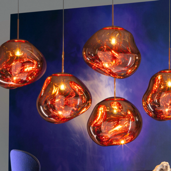 Suspension melt cuivre h50cm o50cm tom dixon normal