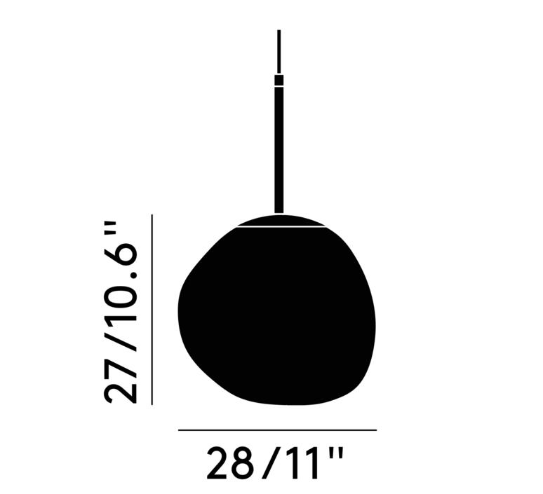 Melt mini tom dixon suspension pendant light  tom dixon mes02cheu   design signed 36819 product