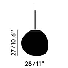 Melt mini tom dixon suspension pendant light  tom dixon mes02cheu   design signed 36819 thumb
