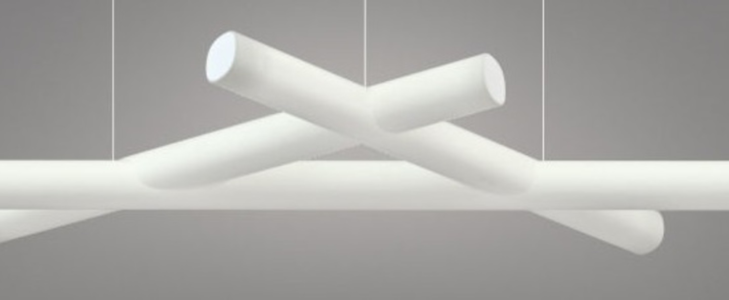 Suspension mesh blanc led 4000k l162cm h11cm slide normal