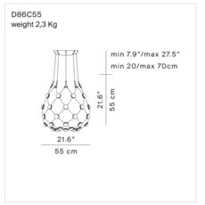 Mesh d86c55 francisco gomez paz suspension pendant light  luceplan 1d860c550001  design signed 54793 thumb