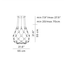 Mesh d86c55 francisco gomez paz suspension pendant light  luceplan 1d860c550001  design signed 55383 thumb