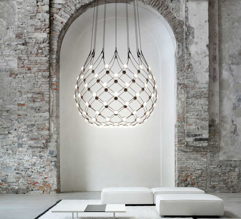 Mesh d86n francisco gomez paz suspension pendant light  luceplan 1d860n000001 1d860 t51001  design signed 55663 product
