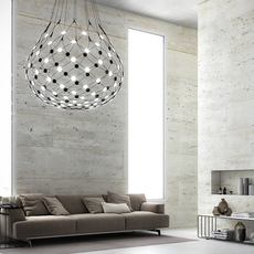 Mesh d86n francisco gomez paz suspension pendant light  luceplan 1d860n000001 1d860 t51001  design signed 55664 thumb