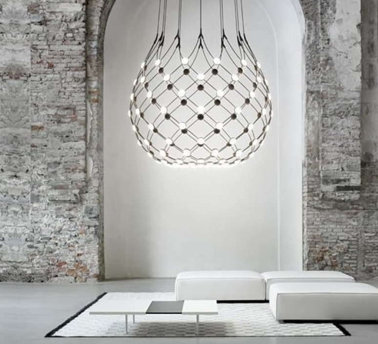 Mesh d86n francisco gomez paz suspension pendant light  luceplan 1d860n000001 1d860 t51001  design signed 98028 product