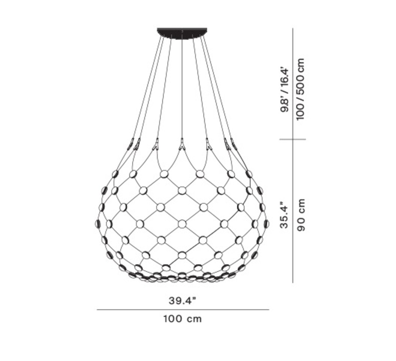 Mesh d86n francisco gomez paz suspension pendant light  luceplan 1d860n000001 1d860 t51001  design signed 98029 product