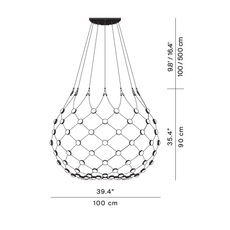 Mesh d86n francisco gomez paz suspension pendant light  luceplan 1d860n000001 1d860 t51001  design signed 98029 thumb