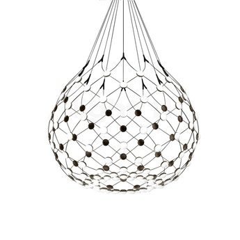 Suspension mesh d86n noir led 2700k 3252lm o100cm h90cm 4m luceplan normal