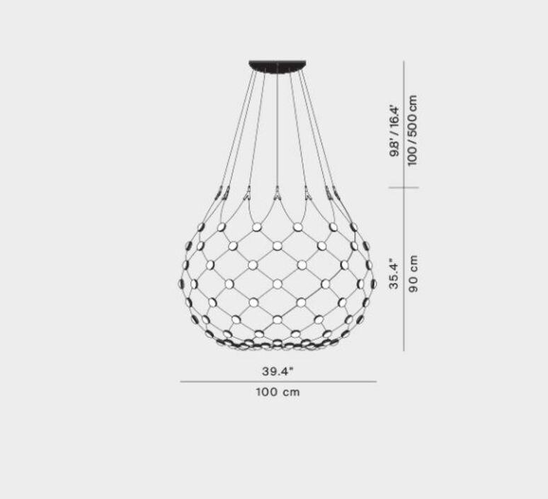 Mesh d86n francisco gomez paz suspension pendant light  luceplan 1d860n000001 1d860 t51001  design signed 98147 product
