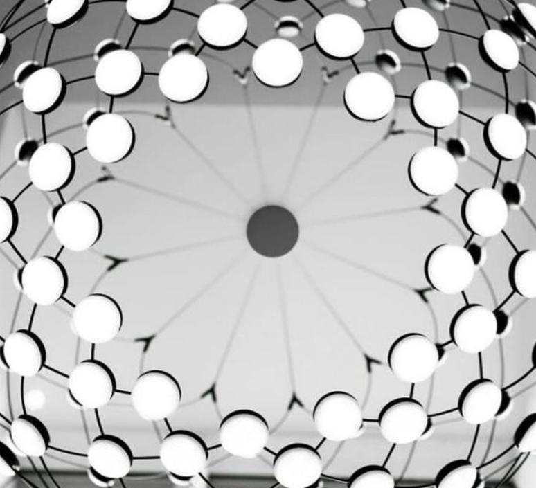 Mesh d86pl francisco gomez paz suspension pendant light  luceplan 1d860pl00001  design signed 54799 product