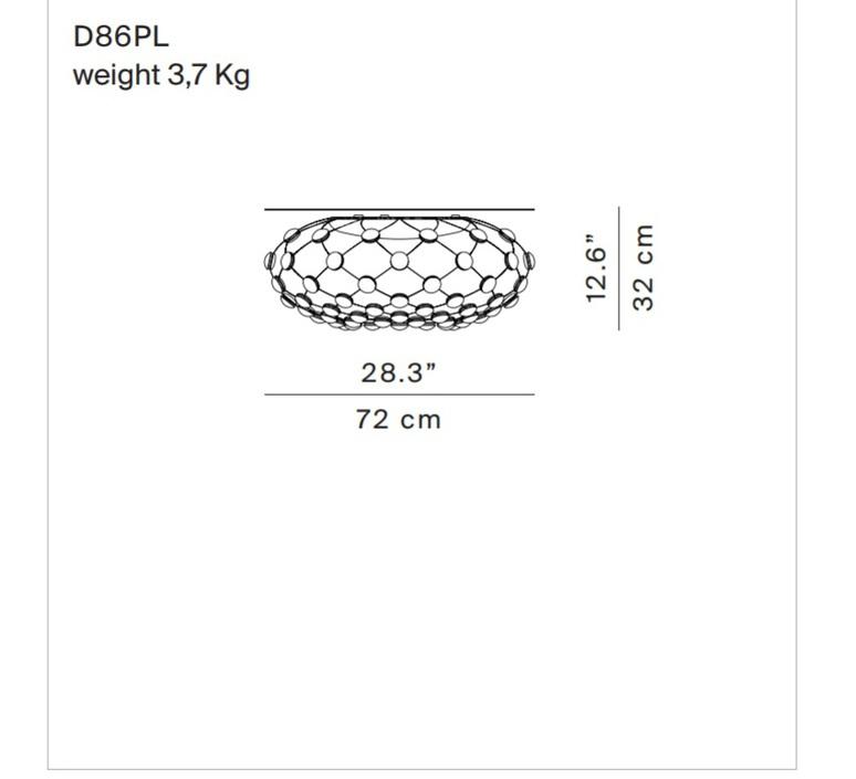 Mesh d86pl francisco gomez paz suspension pendant light  luceplan 1d860pl00001  design signed 54800 product