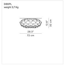 Mesh d86pl francisco gomez paz suspension pendant light  luceplan 1d860pl00001  design signed 54800 thumb