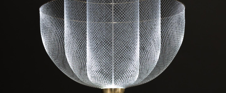 Suspension meshmatics gris led 2700k 665lm o90cm h90cm moooi normal