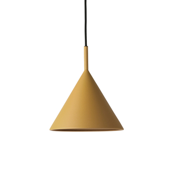 Suspension metal triangle m ocre led dimmable l25cm h25cm hk living normal