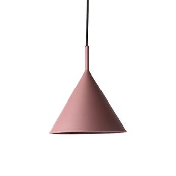 Suspension metal triangle m violet led dimmable l25cm h25cm hk living normal