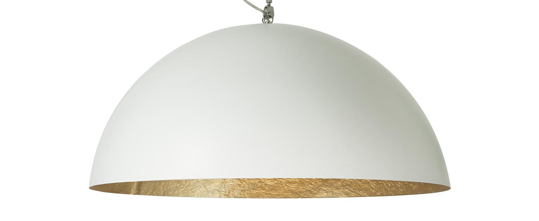 Suspension mezza luna 1 blanc interieur or o70cm h33cm in es artdesign normal