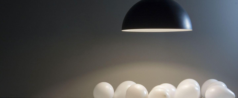 Suspension mezza luna 1 lavagna noir et blanc o70cm h30cm in es artdesign normal
