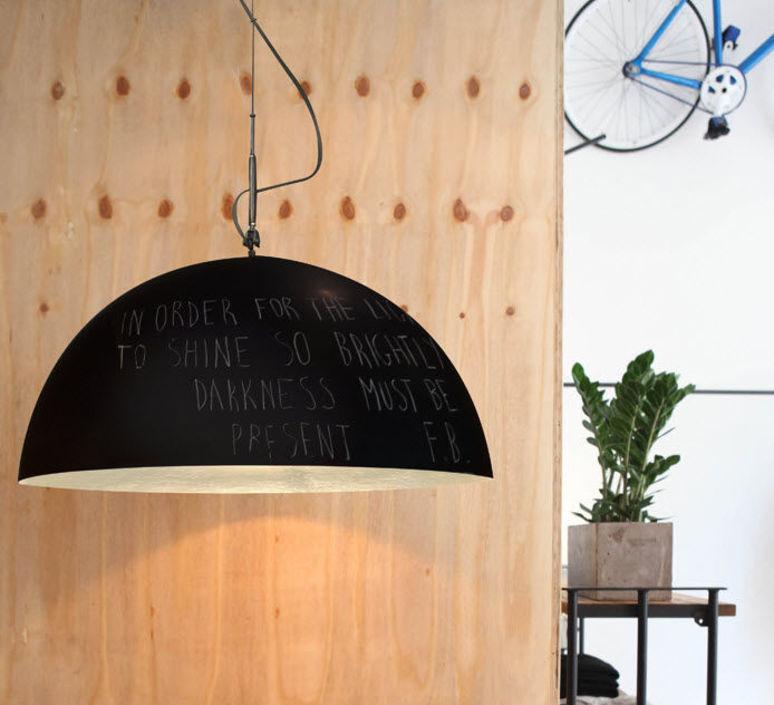 Mezza luna 1 lavagna  suspension pendant light  in es artdesign in es05010l b  design signed 38671 product