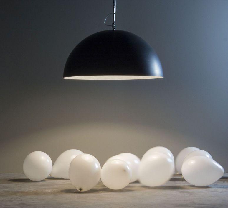 Mezza luna 1 lavagna  suspension pendant light  in es artdesign in es05010l b  design signed 38672 product