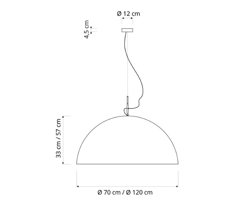Mezza luna 1 lavagna  suspension pendant light  in es artdesign in es05010l b  design signed 38673 product