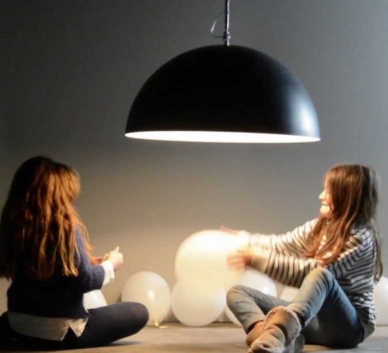 Mezza luna 1 lavagna  suspension pendant light  in es artdesign in es05010l b  design signed 38676 product