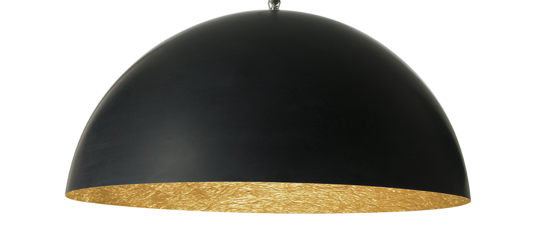 Suspension mezza luna 1 noir interieur or o70cm h33cm in es artdesign normal