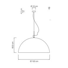 Mezza luna 2 ociluman suspension pendant light  in es artdesign in es0502bl o  design signed nedgis 116974 thumb