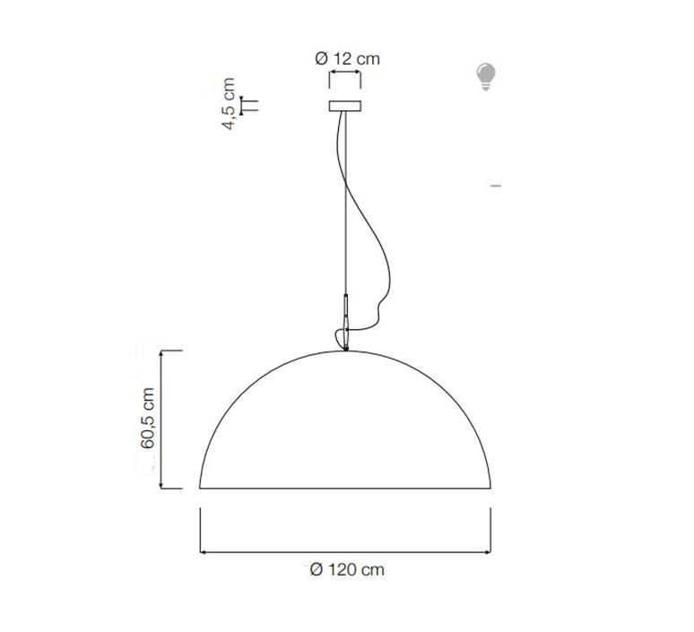 Mezza luna 2 ociluman suspension pendant light  in es artdesign in es0502n o  design signed nedgis 115819 product