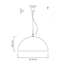 Mezza luna 2 ociluman suspension pendant light  in es artdesign in es0502n o  design signed nedgis 115819 thumb