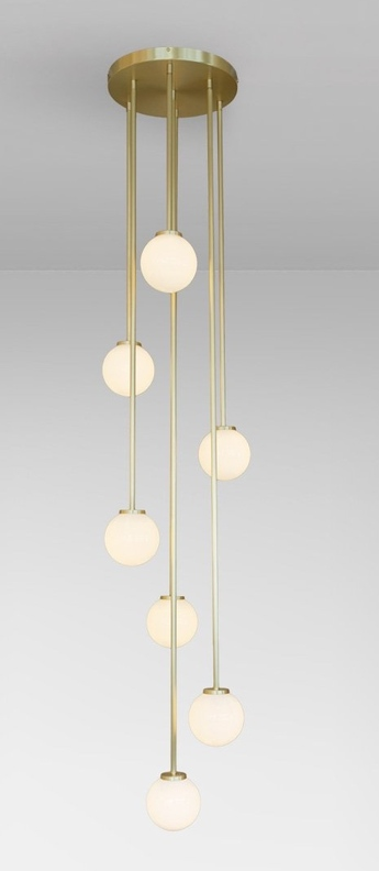 Suspension mezzo cluster 3 laiton led 2700ko27cm hcm cto lighting normal