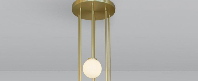 Suspension mezzo cluster 5 laiton led 2700ko37cm hcm cto lighting normal