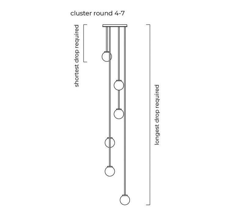 Mezzo cluster 5 chris et clare turner suspension pendant light  cto lighting cto 01 210 0501   design signed nedgis 115888 product