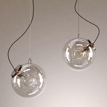 Suspension miconos chrome brillant o30cm h30cm artemide normal