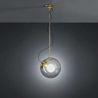 Suspension miconos dore satine o30cm h30cm artemide normal