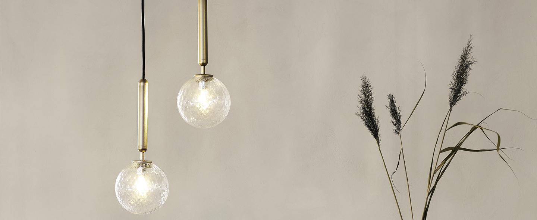 Suspension miira laiton transparent o14cm h34 5cm nuura normal