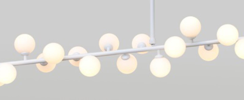 Suspension mimosa blanc l110cm h60cm atelier areti normal