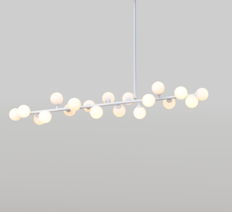 Mimosa gwendolyn et guillane kerschbaumer suspension pendant light  atelier areti mimosa ceiling white  design signed 44070 product