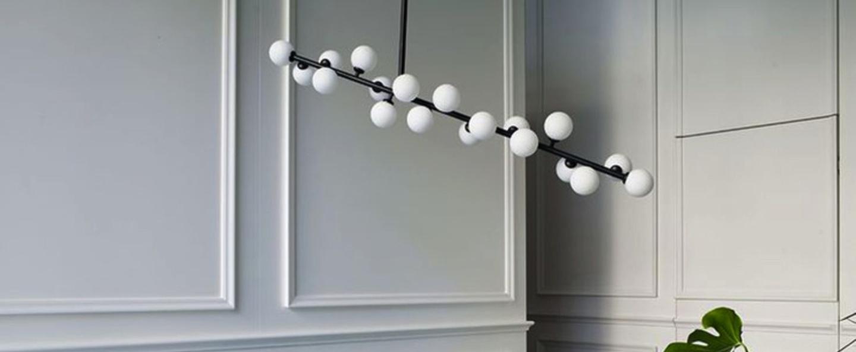 Suspension mimosa noir et blanc l110cm h60cm atelier areti normal