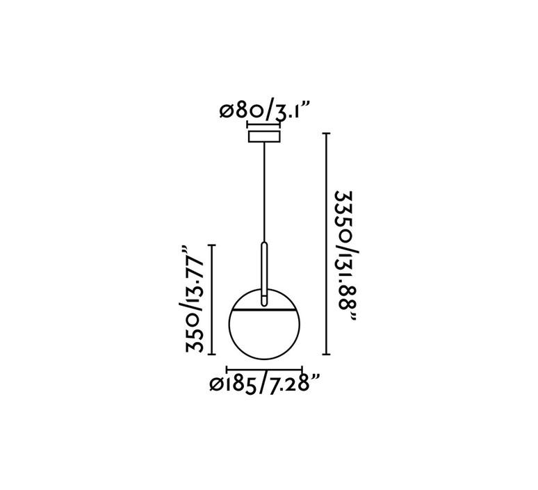 Mine space 1l  suspension pendant light  faro 28376 1l  design signed 68725 product