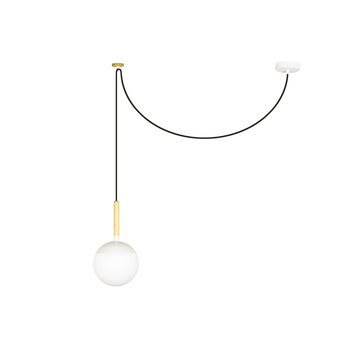 Suspension mine blanc o18 5cm h18 5cm faro normal