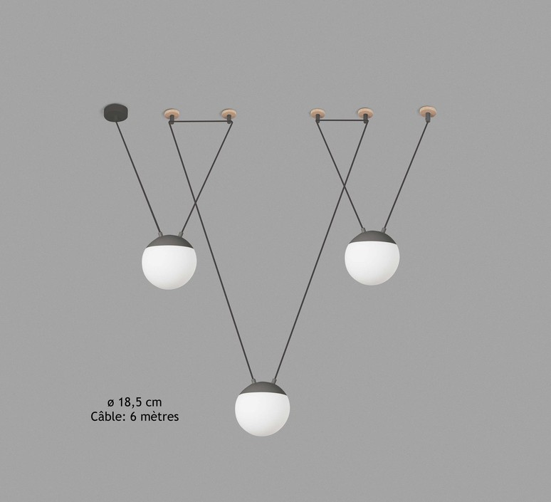 Mine space 3l  suspension pendant light  faro 28376 3l  design signed 38154 product