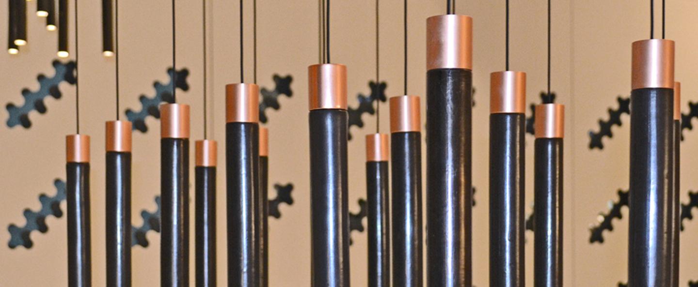 Suspension minimal cuivre led o3 5cm h25 5cm kundalini normal