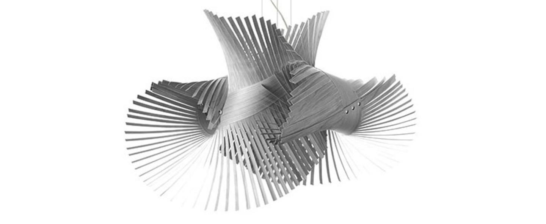Suspension minimikado s gris led h50cm l70cm lzf normal