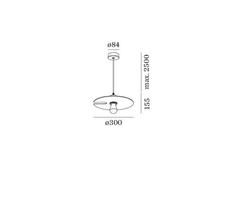 Mirro suspended 1 0 13 9 design suspension pendant light  wever et ducre  6341e8nb0  design signed nedgis 67371 product