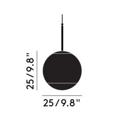 Mirror ball tom dixon suspension pendant light  tom dixon mbb25aeu   design signed 36840 thumb